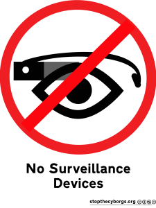 Surveillance Ban sign